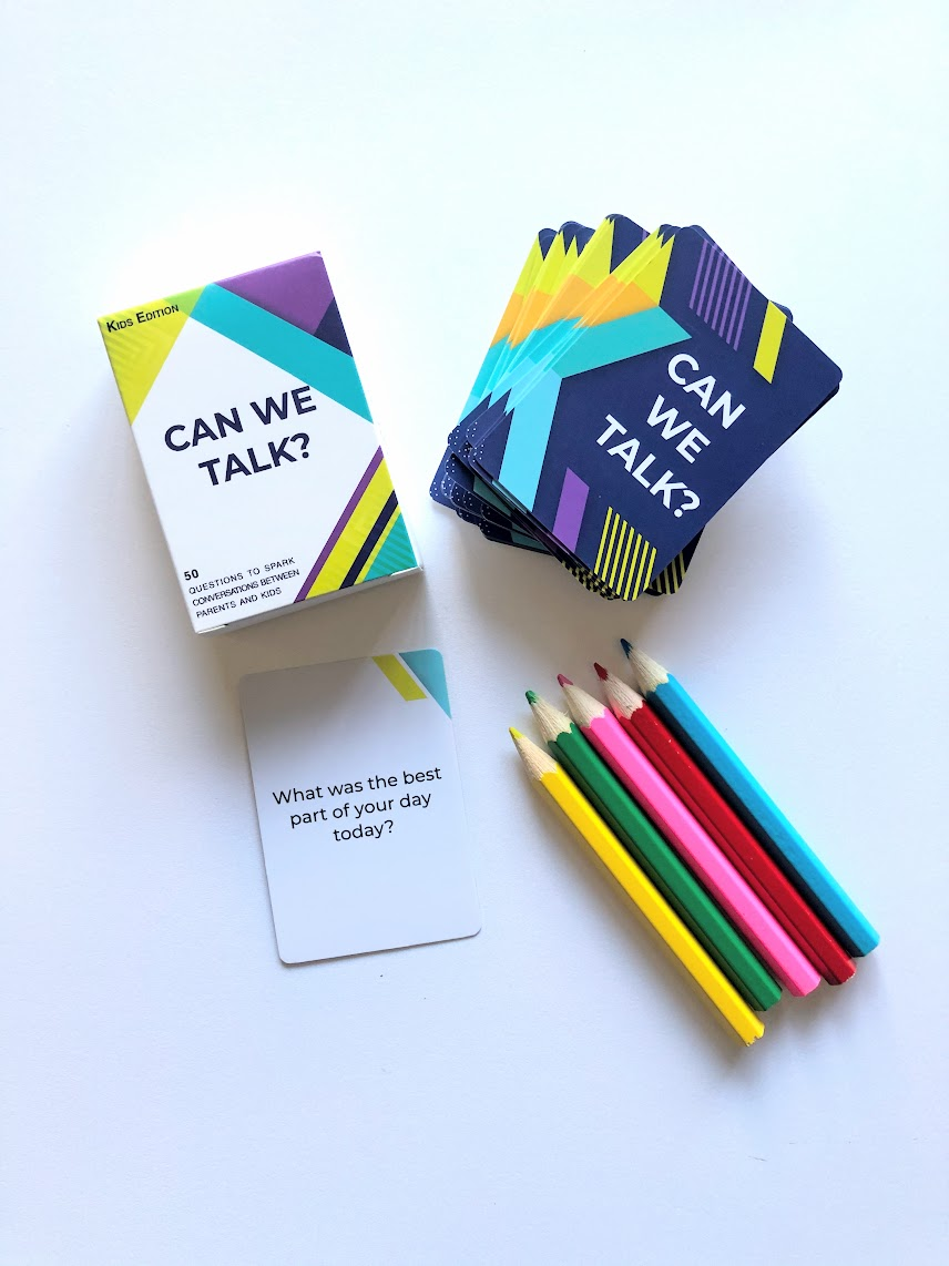 Can We Talk Cards with colored pencils.